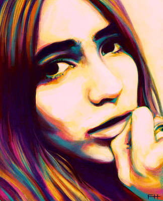 60s Painting - Claudia by Fay Helfer