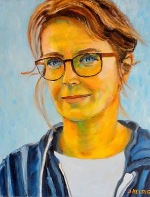 Painting - Claudia-portrait by Dagmar Helbig