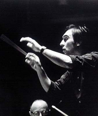 Photograph - Claudio Abbado, Conducting The Boston by Everett