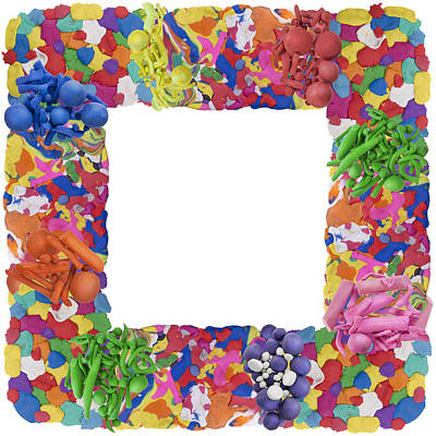 Plasticine Photograph - Clay Abstract Photo Frame Collage by Aleksandr Volkov