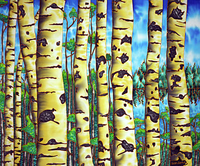 Painting - Clay Bank Birch by Daniel Jean-Baptiste