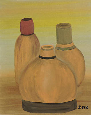 Modern Kitchen - Clay Bottles by Della May Roberts