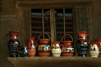Photograph - Clay Jugs  by Emanuel Tanjala