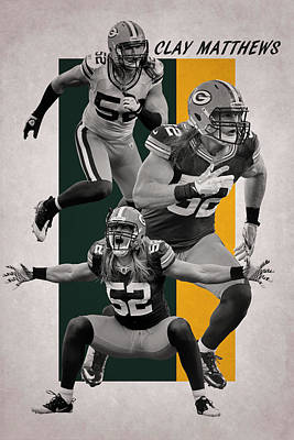 Photograph - Clay Matthews Green Bay Packers by Joe Hamilton