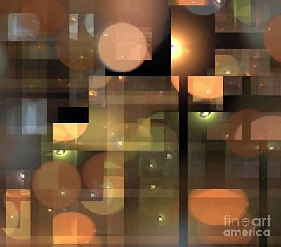 Digital Art - Clay Moons by Kim Sy Ok