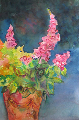 Painting - Clay Pot And Foxglove by Kathleen  Gwinnett