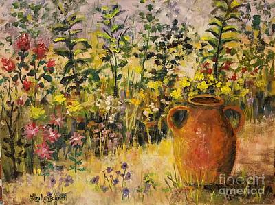 Painting - Clay Pot In The Garden by Lou Ann Bagnall