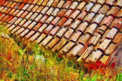 Hellas Painting - Clay Tiles by George Rossidis