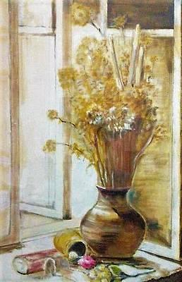 Painting - Clay Vase by Khalid Saeed