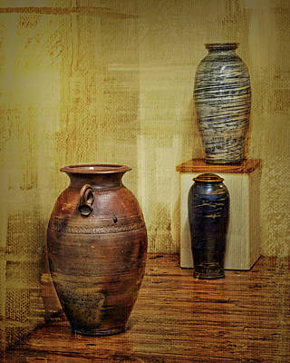 Crock Photograph - Clay - Wood by Nikolyn McDonald