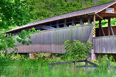 Photograph - Claycolm/reynoldsdale Covered Bridge 2 by Lisa Wooten