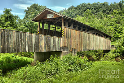 Photograph - Claycomb Bridge In The Forest by Adam Jewell