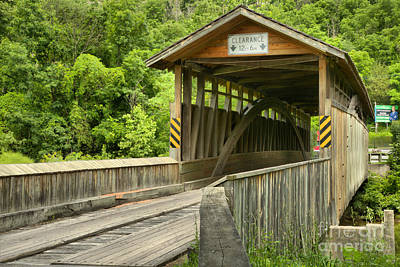 Photograph - Claycomb Covered Bridge by Adam Jewell