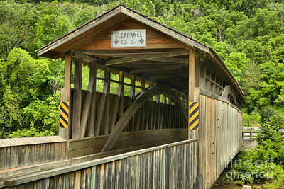 Photograph - Claycomb Covered Bridge Landscape by Adam Jewell