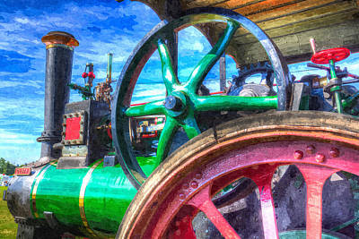 Photograph - Clayton And Shuttleworth Traction Engine Art by David Pyatt