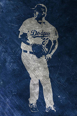 Baseball Painting - Clayton Kershaw Los Angeles Dodgers Art by Joe Hamilton