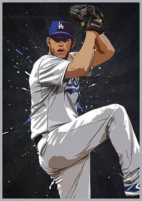 Los Angeles Dodgers Digital Art - Clayton Kershaw by Semih Yurdabak
