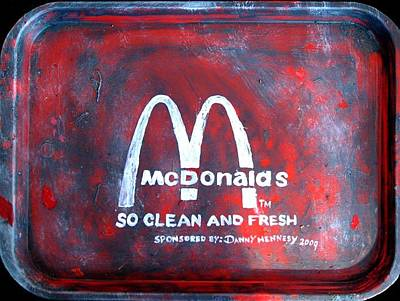 Ronald Mcdonald Painting - Clean And Fresh by Danny Hennesy