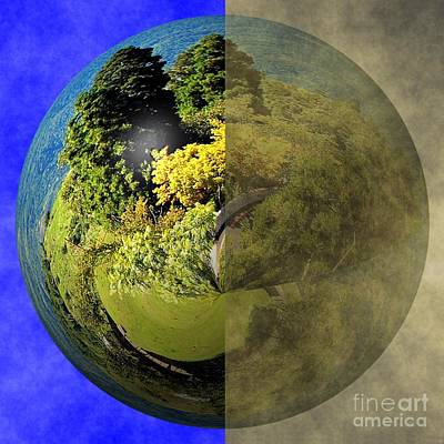 Photograph - Clean Earth Versus Polluted Earth by Yali Shi