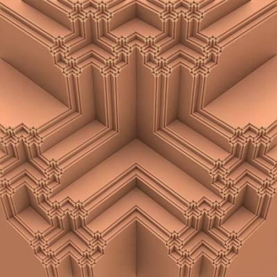 Mandelbulb Digital Art - Clean Lines by Lyle Hatch