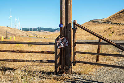 Clean Power And Old Ranch Gates Art Print