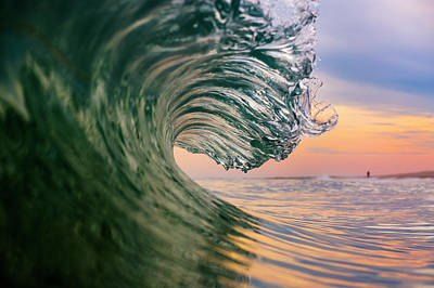 York Beach Photograph - Clean Wave by Ryan Moore
