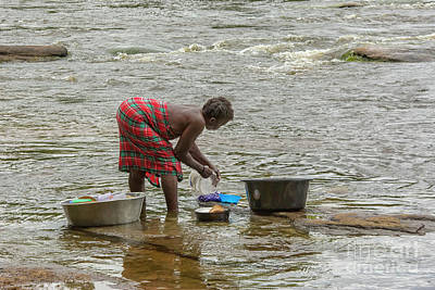 Photograph - Cleaning Dishes In River by Patricia Hofmeester