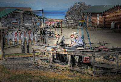 Photograph - Cleaning Halibut In Ninilchik Alaska by Dyle   Warren