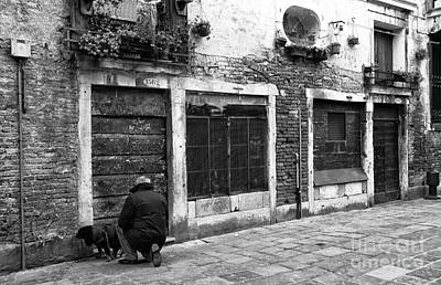 Photograph - Cleaning Up In Venice by John Rizzuto