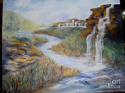 Art Print featuring the painting Cleansing by Saundra Johnson