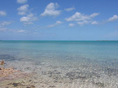 Photograph - Clear Bahama Blue by Karen J Shine