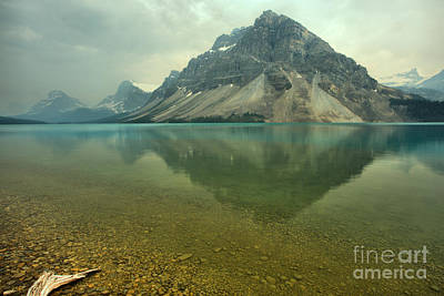 Photograph - Clear Bow Lake In The Smoke by Adam Jewell