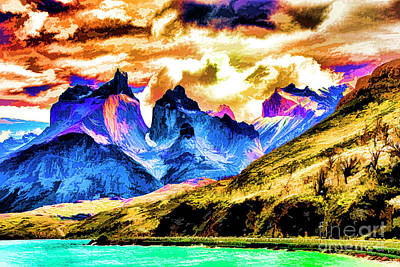 Digital Art - Clear Day Watercolor by Rick Bragan