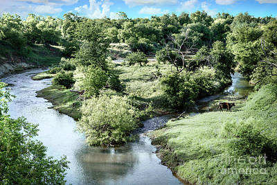 Photograph - Clear Fork Of The Brazos River by Lawrence Burry