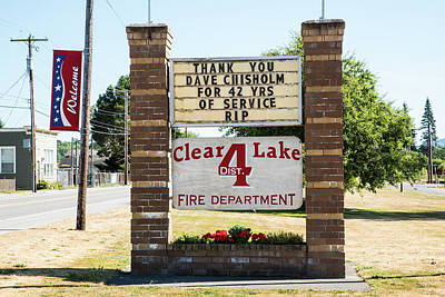 Photograph - Clear Lake Fire Department by Tom Cochran