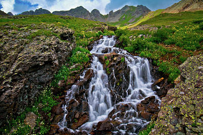 Clear Lake Mountain Waterfall Original