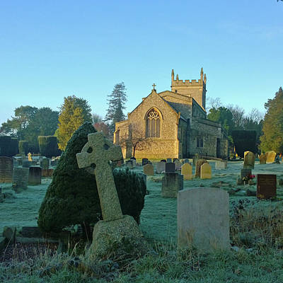 Photograph - Clear Light In The Graveyard by Anne Kotan