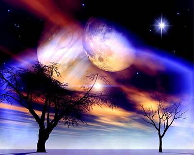 Fantasy Tree Digital Art - Clear Night by Dreamlight  Creations