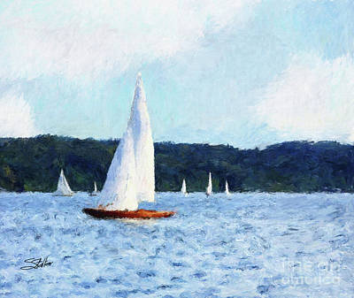 Clear Sailing Art Print by Shirley Stalter