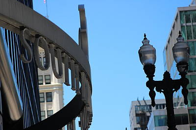 Photograph - Clear Street Lamp Downtown Chicago by Colleen Cornelius