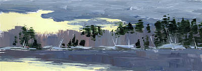 Painting - Clearing by Mary Byrom