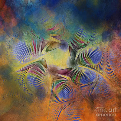 Generative Digital Art - Clearing Of The Storm by Deborah Benoit