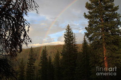 Photograph - Clearing Rain And Rainbow by Edward R Wisell