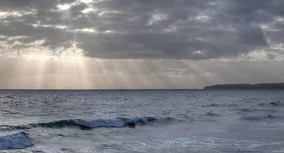 Clearing Skies Over Pacific Ocean Art Print
