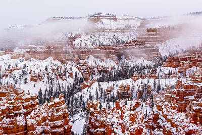 Photograph - Clearing Snowstorm In Bryce Canyon  by Joe Doherty