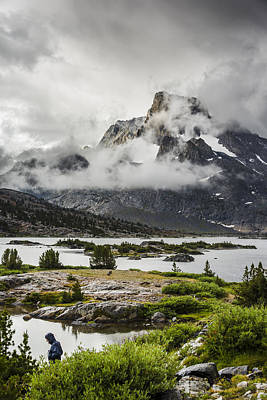 Photograph - Clearing Storm At 1000 Island Lake In The Ansel Adams Wilderness by Joe Doherty