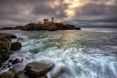 Photograph - Clearing Storm At Cape Neddick by Rick Berk