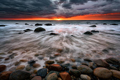 Montauk Photograph - Clearing Storm At Montauk Point by Rick Berk
