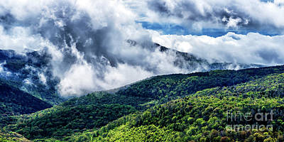 Print featuring the photograph Clearing Storm Highland Scenic Highway by Thomas R Fletcher
