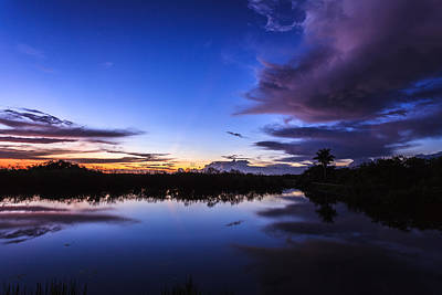 Clearing Storm Over The Anhinga Trail Art Print by Jonathan Gewirtz